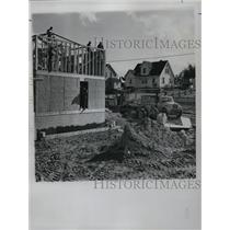 1969 Press Photo of construction on the St. Regis Reservation for the Mohawk