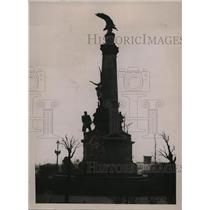 1923 Press Photo Germany's Statue of Victory at Ruhrort