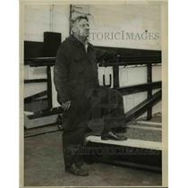 1929 Press Photo Paddy MacDonald Fire Chief of US Shipping Line