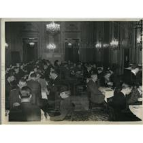 1936 Press Photo A view of the ballroom in the Stevens hotel in Chicago
