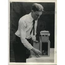 1920 Press Photo Grain Elevator Design