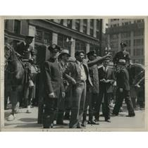 1931 Press Photo R.Shohan in May Day demonstration at Public Square