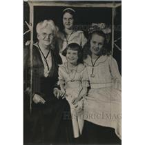 1920 Press Photo Mrs Draper Smith & grandchildren