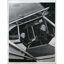 1956 Press Photo of L-R Ronald Charles Tilre and his flight instructor Horatio