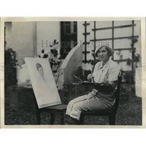 1934 Press Photo Mrs. Hall Herrick of New York City vacationing in  Bermuda.