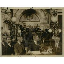 1927 Press Photo Inauguration Ceremony of Philadelphia Mayor Harry A. Mackey