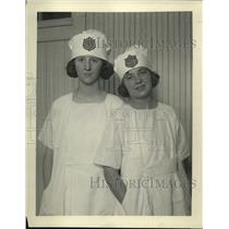 1922 Press Photo Paulina Norby age 16, Lucille Larem age 16