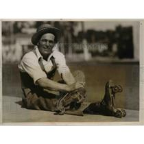 1927 Press Photo Larry McTavis Skated from Oakland to L.A.