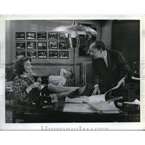 1964 Press Photo Maggie Hayes and John Baragrey star in The Defenders - orp16766