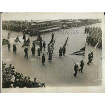 1929 Press Photo American Legion detachment in the parade for Army Day in NY