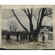 1928 Press Photo Boy Scouts Search for Missing College Student