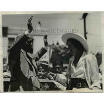 1933 Press Photo Mary Veck of Downieville Calif Queen of Truckee Rodeo