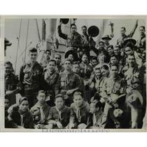1935 Press Photo Execequiel Villacorta Philippine Boy Scouts on President Grant