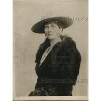 1919 Press Photo Lady Worthington Evans Wife of Sir L Evans of British Cabinet