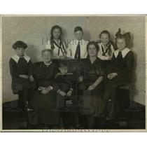 1922 Press Photo Keeney Family