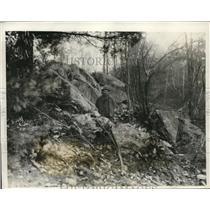 1931 Press Photo George Barlow on his farm at Greenwich Conn foun gold