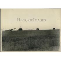1920 Press Photo of a field that was once filled with trenches and fighting men.