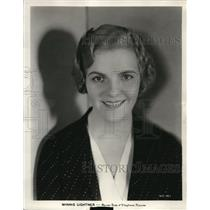 Press Photo Winnie Lightner actress known for Gold Diggers of Broadway