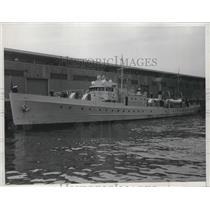 1934 Press Photo Coast Guard Patrol Boat Daphne at San Francisco