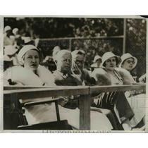 1932 Press Photo Actress Genevieve Tobin, Paul Wilder at Men's Tennis Match