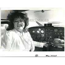 1988 Press Photo Shirley Bergquist Flight Instructor