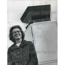 1971 Press Photo Delphine Aldecoa chief of air traffic control at Hillsboro