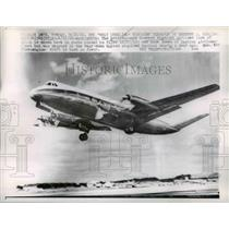 1962 Press Photo British-made Vickers Viscount Airliner