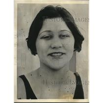 1925 Press Photo Eleanor Garatti San Rafael Calif swim star