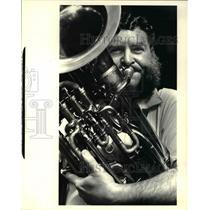 1982 Press Photo Jack Scott of the Joe Wendel Orchestra