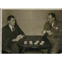 1933 Press Photo Aaron Frank and Jeff Glick Qualifying for Championship