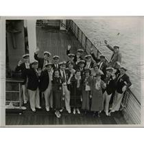 1936 Press Photo A bowling team who have toured Germany and participated in the