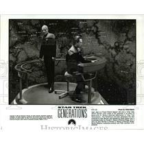 1994 Press Photo Patrick Stewart and Brent Spiner in Star Trek Generations