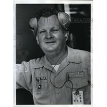 1974 Press Photo Dan Kornish, United Airlines Ramp Service Crew member