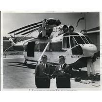 1967 Press Photo Wes & Jim Lamatta Delivers Countrys Largest Commercial Skycrane