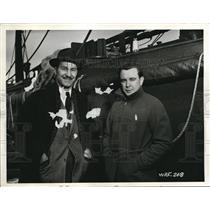 1941 Press Photo R.L. Hamilton Jr. With A.M. Drumm At An Eastern Canadian Port