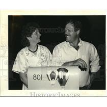 1987 Press Photo Tim & Shari Gales own the Second Wind a hot air balloon com
