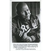 1983 Press Photo Mickey Cobb, trainer of Kansas City Royal baseball team