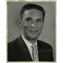 1956 Press Photo Don Jones, American Airlines's convention sales agent