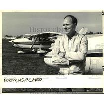 1985 Press Photo Edward Kingery from Saudi Arabia visits Pearson Air Park