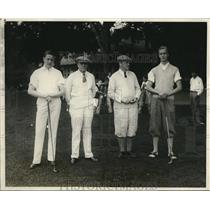 1923 Press Photo Father and Son Golf Association's annual tourney