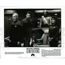 1994 Press Photo Patrick Stewart, Jonathan Frakes in Star Trek Generations