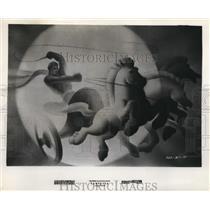 Press Photo Scene from Walt Disney's Fantasia in Greek Mythological setting
