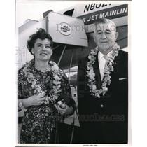 1964 Press Photo Joseph O. Fisher Jim Fisher Motors United Air Lines Jet