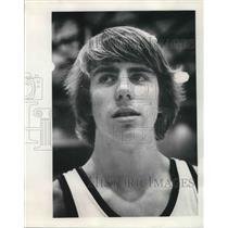 1975 Press Photo Mark Christie Freshman Basketball Player - ora09559