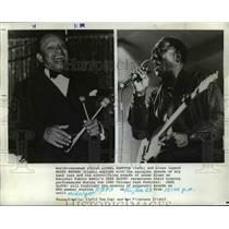 1981 Press Photo Lionel Hampton and Muddy Waters Blues Legend Singer Musician