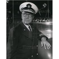 1956 Press Photo Carl Greves with his pilot uniform on - ora28561