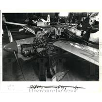 1985 Press Photo E.H.Holly Fletcher, veteran Canby flier & plane builder