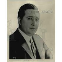 1929 Press Photo Portrait of an radio announcer