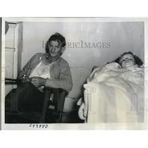 1940 Press Photo Pearlie Templet, 5, Injured Louisiana Tornado, A.J. Mistrelle