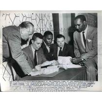 1956 Press Photo Wash DC Leadership Conference on Civil Rights, Boris Shishkin